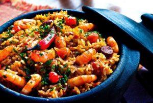 Crevettes, Riz, Poivrons, Pot, Le Dîner, Cuit