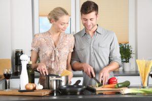 Femme, Cuisine, L'Homme, Vie Quotidienne, Blond