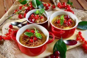 Dessert, Raisins De Corinthe, Crème Brûlée, Brulée