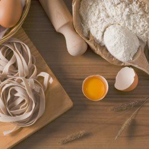 ingrédients pour préparer des pâtes fraîches