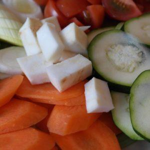 Ingrédients pour préparer des légumes glacés